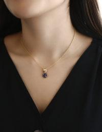 petite button necklace