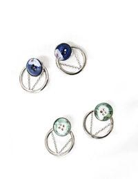 circle of vie earrings silver
