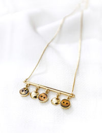 rod necklace brown